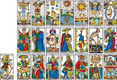 La Prophétie du Tarot et les 21 Siècles -- Camoin Tarot de Marseille 7dcfe9599efe